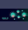 coronavirus covid19-19 background with floating vector image vector image