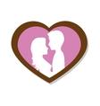 couple love card icon vector image