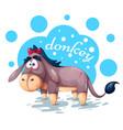 cute teddy donkey - funny vector image