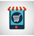 digital e-commerce cart shopping icon design vector image vector image