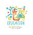 education label original design back to school vector image vector image