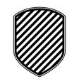 emblem in monochrome and striped vector image vector image