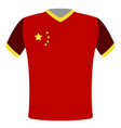flag t-shirt of china vector image vector image