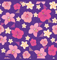 flowers and triangles seamless pattern print vector image vector image