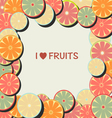 Fruit background in Flat Frame vector image vector image