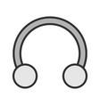 half hoop earring color icon vector image vector image