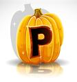 Halloween Pumpkin P vector image vector image