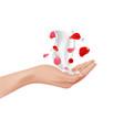 hand care female realistic arm cream splash vector image