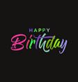happy birthday card banner beautiful greeting vector image