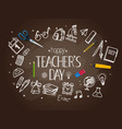 happy teachers day concept vector image vector image