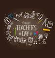 Happy teachers day concept