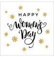 international womens day lettering design for vector image vector image