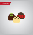 isolated patisserie flat icon cake element vector image vector image