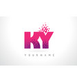 ky k y letter logo with pink purple color and vector image vector image