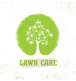 lawn care creative organic sign concept vector image vector image