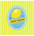 Limon squash retro fruit label vector image vector image