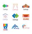 logos of ceilings floors vector image vector image