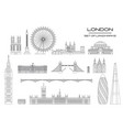 london skyline line art 1 vector image vector image