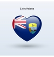Love Saint Helena symbol Heart flag icon vector image vector image