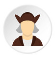 man wearing in christopher columbus costume icon vector image