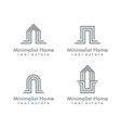 Minimalist Real estate logo design vector image vector image