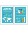 modern business infographic brochure template 1 vector image vector image