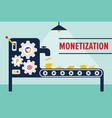 money machine monetization concept vector image vector image