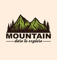 mountain adventure logo emblems and badges camping vector image vector image