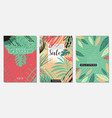 nature floral set banners vector image vector image