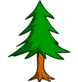 Pine tree illustration vector | Price: 1 Credit (USD $1)