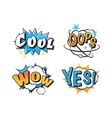 Popart comic speech bubble boom effects vector image vector image