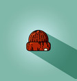 red knitted hipster cap vector image