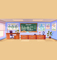 school classroom for biology learning vector image vector image