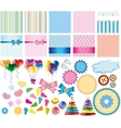 Set of items for card vector image