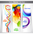 set of vertical headers vector image