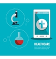 set smartphone services medical isolated vector image vector image