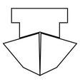 ship it is black icon vector image vector image