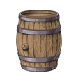 Side view of sketch style standing wooden barrel vector image vector image
