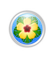 silver hawaiian badge in polynesian style vector image vector image