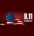 soldier saluting the usa flag for patriot day vector image vector image