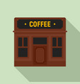street coffee shop icon flat style vector image vector image