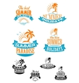 summer paradize and holidays banners vector image vector image