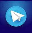 telegram sign with paper plane icon vector image