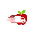 vitamin delivery logo icon design vector image vector image
