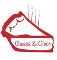warm cheese and onion pie vector image vector image