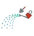 watering can and shovel vector image