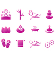 Wellness spa sauna and massage icons vector image vector image