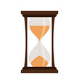 yellow hourglass isolated on white vector image vector image