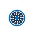abstact circle ornament logo vector image