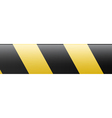 Abstract black and yellow restrictive barrier vector image